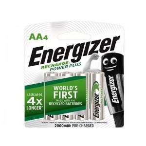 Energizer Recharge Powerplus AA-4 Pack (20000Mah)