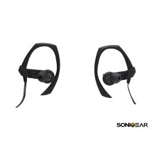 SonicGear Earpump Sport 300 Bluetooth Earphones - Black, New, Open Box