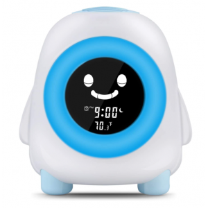Child Sleep Training Digital Alarm Clock with 5 Color Night Light