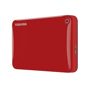 Toshiba HDTC810ER3AA 1TB Canvio Connect II USB 3.0 2.5 Inch External Hard Drive - Red
