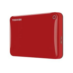 Toshiba HDTC810ER3AA 1TB Canvio Connect II USB 3.0 2.5 Inch External Hard Drive - Red