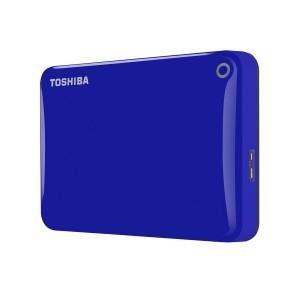 Toshiba HDTC810EL3AA 1TB Canvio Connect II USB 3.0 2.5 Inch External Hard Drive - Blue