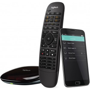 Logitech Harmony Companion All in One Remote Control for Smart Home and Entertainment Devices (Remote Control & Smart Hub) works with Alexa – Black - REFURBISHED