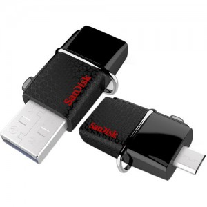 SanDisk - Ultra 32GB Micro USB/USB 3.0 Flash Drive