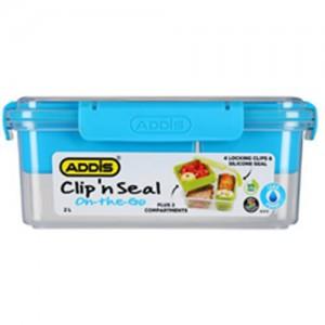 Addis Clip n Seal 2L Rectangular Compartment Lunch Box