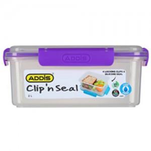 Addis Clip n Seal 2L Rectangular Lunch Box