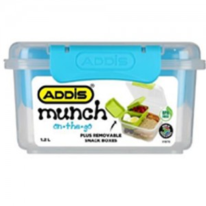 Addis 1.15L Munch 'on the go' Square Lunch Box