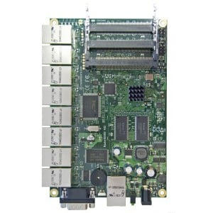 RB493AH - MikroTik RouterBOARD RB493AH - 9 LAN / 3 MINI-PCI 680MHZ 128MB L5