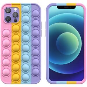 Sceedo Pop It Bubble Iphone 12 Max Cover Rainbow