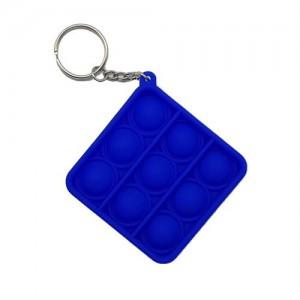 Pop It Mini Bubble Key Ring - Blue Square