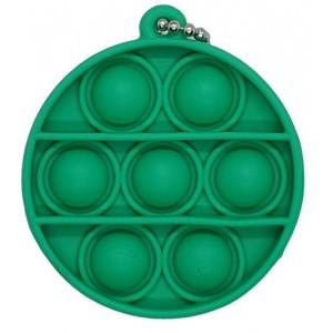 Pop It Mini Bubble Key Ring - Green Round