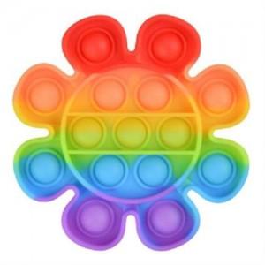 Pop It Bubble Flower Fidget - Rainbow