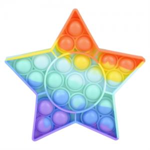 Pop It Bubble Star Fidget - Rainbow