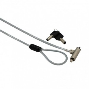 Gizzu Nano Security Cable with Key Lock + Key Included (compatible with master key)