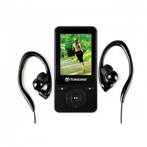 Transcend MP710 - 8GB Fitness MP3 Player + Earphones - Black