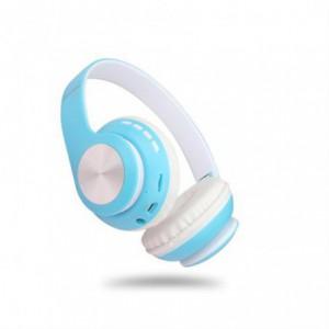 Geeko iPerfect Bluetooth Wireless On Ear Stereo Headphones - Blue and White