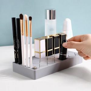 Silicone Cosmetic Organizer - Med-Grey