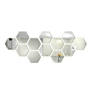 Hexagon Acrylic Wall Sticker- Medium Set of Ten
