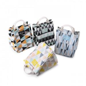 Fine Living Lunch Bag- Blue/Grey