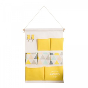 Fine Living Hanging Wall Tidy- Yellow