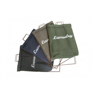 Fine Living - Laundry Stand - Khaki Brown