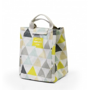 Fine Living Lunch Bag- Yellow Turquoise