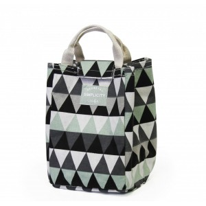 Fine Living Lunch Bag - Green / Grey