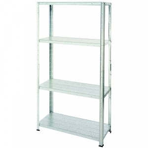 Fine Living - 4 Layer Shelf In Galvanized Steel