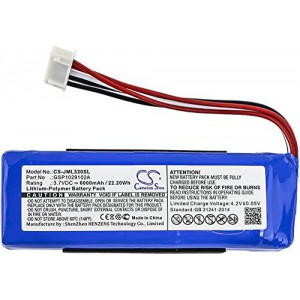 Replacement battery for JBL Charge 3 Speaker