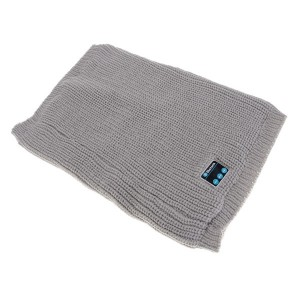 Warm Knitted Style Buff Scarf with Built-in Wireless Bluetooth Headphones