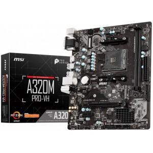 MSI A320M PRO-VH AMD A320 Ryzen Socket AM4 Micro-ATX Desktop Motherboard