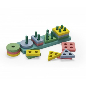 Wooden Stacking Shapes - Rectangle