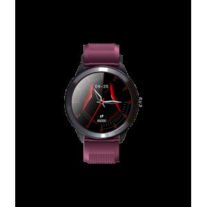 Astrum Wireless Bluetooth IP68 Sports Round Metal Smart Watch - Purple