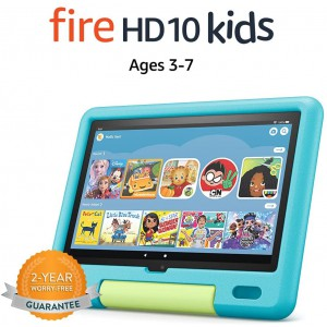 """All-new Fire HD 10 Kids Tablet 10.1"""" 1080p Full HD (Ages 3–7) - 32 GB"""