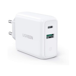 Ugreen - USB-C + USB-A 36W Wall Charger - White