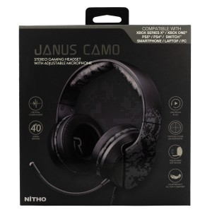 Nitho Janus Camo Gaming Headset  Mini-jack Plug