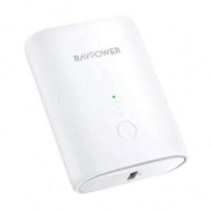 RAVPower 10000mAh 1x USB 1x Type-C PD18W/QC3.0 Power Bank - White
