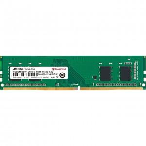 TRANSCEND 8GB DDR4 2666MHz Desktop U-DIMM 1RX8 1GX8 CL19 1.2V