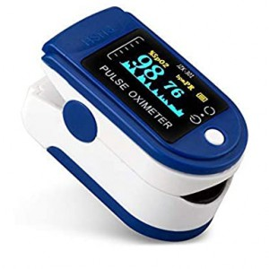 Digital Fingertip Pulse Oximeter - Blue