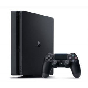 Sony PlayStation 4 500GB Slim Gaming Console with DualShock Wireless Controller -Jet Black