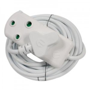 5M 10A Extension Cord with Double Coupler
