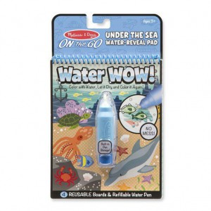 Melissa & Doug Water Wow! - Under The Sea Water Reveal Pad - On The Go Travel Activity