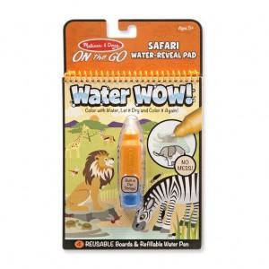 Melissa & Doug Water Wow! - Safari Water Reveal Pad - ON The GO Travel Activity