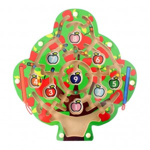 Sharplace Magnetic Wand Marbles Labyrinth Apple Tree Maze