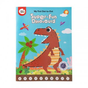 JarMelo My First Dot-to-Dot Drawing Book: Super Fun Dinosaurs