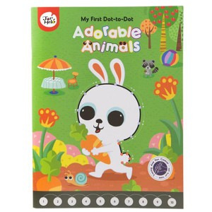 JarMelo My First Dot-to-Dot Drawing Book: Adorable Animals