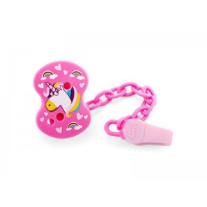 Chicco Pacifier Clip Fantastic Love - Pink