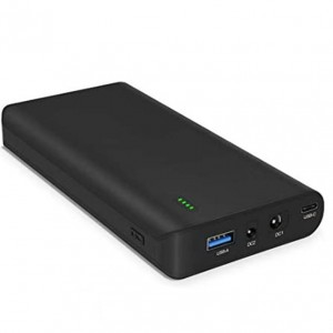 Rechargeable Li-ion Battery with USB-C (17500mAh) Backup Battery Power Bank (64.75Wh) - 24/19/5V for Laptop, Notebook, Smartphone, Camera
