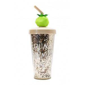 Glitter Fruits Bottle - Beige