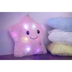 Jerenimo - Twinkle Little Star LED Pillow - Pink
